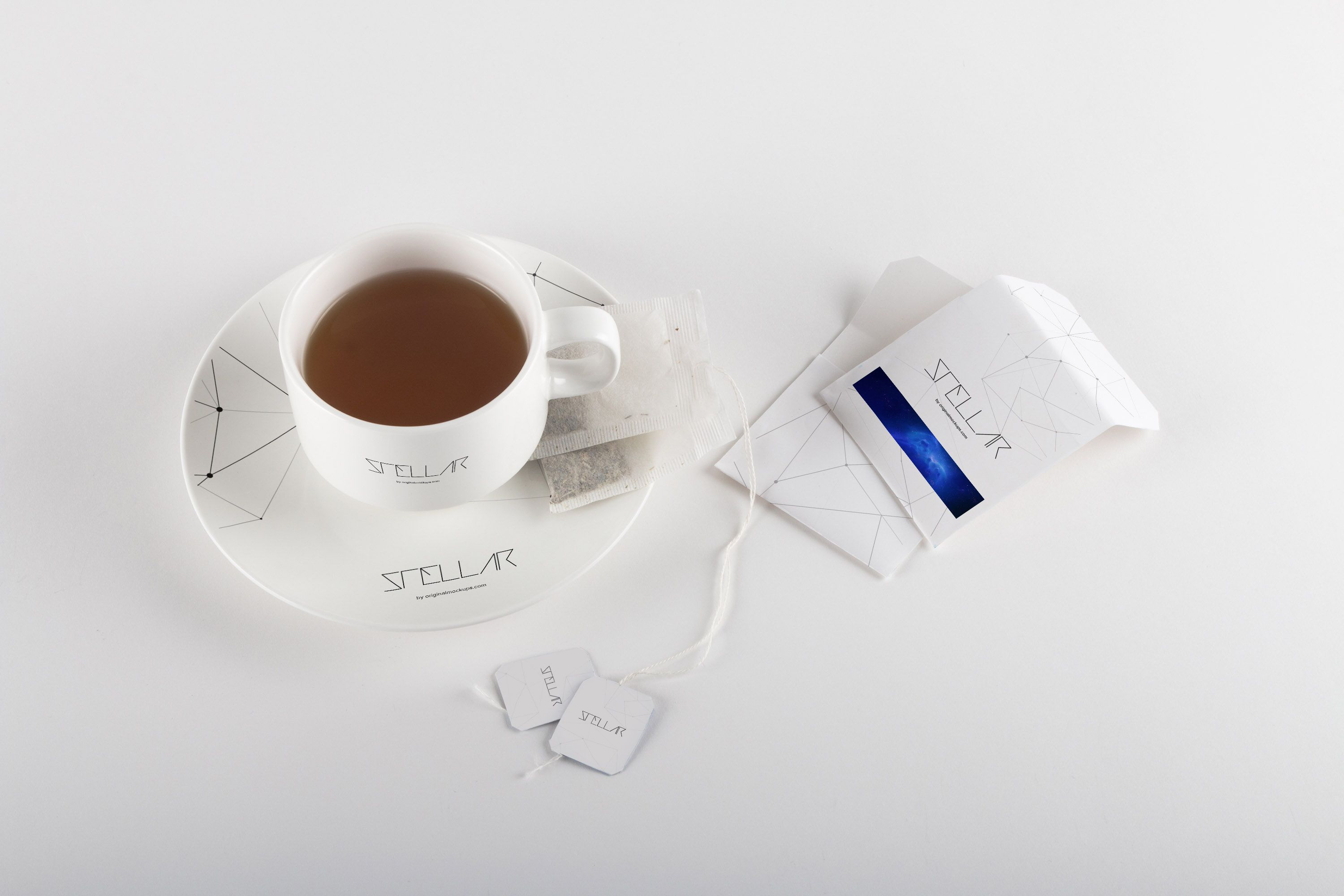 Download Tea Cup And Tea Bags Mockup 01 Tea Bag Bag Mockup Tea Cups