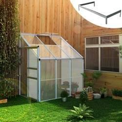 Serre De Jardin Polycarbonate Adossee 2 4 M Base Serre De Jardin Polycarbonate Serre Jardin Serre Adossee