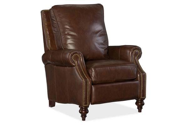 horatio davenport quick ship traditional nailhead leather recliner rh pinterest com