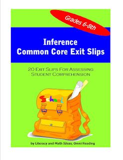 Common core inference exit slips for quick review and assessment of common core inference exit slips for quick review and assessment of 6th 7th and 8th grade students fandeluxe Image collections