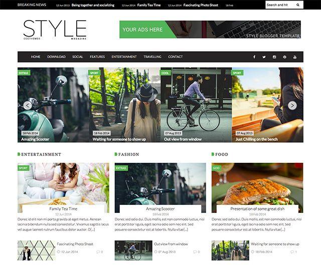 Magazine Blogger Template for Free | Blogger templates | Pinterest ...