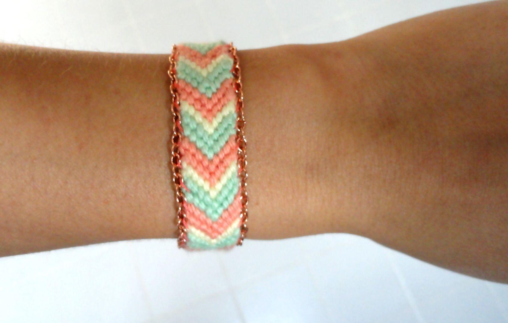 Diy embellished brazilian bracelet friendship bracelets