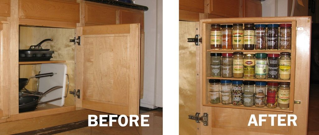 Kitchen Hacks 31 Clever Ways To Organize And Clean Your Kitchen Kitchen Cabinet Storage Kitchen Cabinets Decor Cabinet Spice Rack
