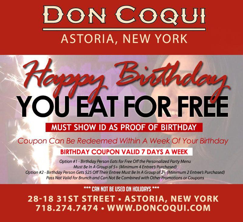 Specials - Don Coqui Astoria