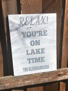 Wooden Lake House Signs Decor Beach Nautical And Relax You Re On Time Sign Custom Wood