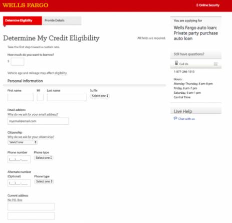 Wells Fargo Customer Service Number Auto Loan