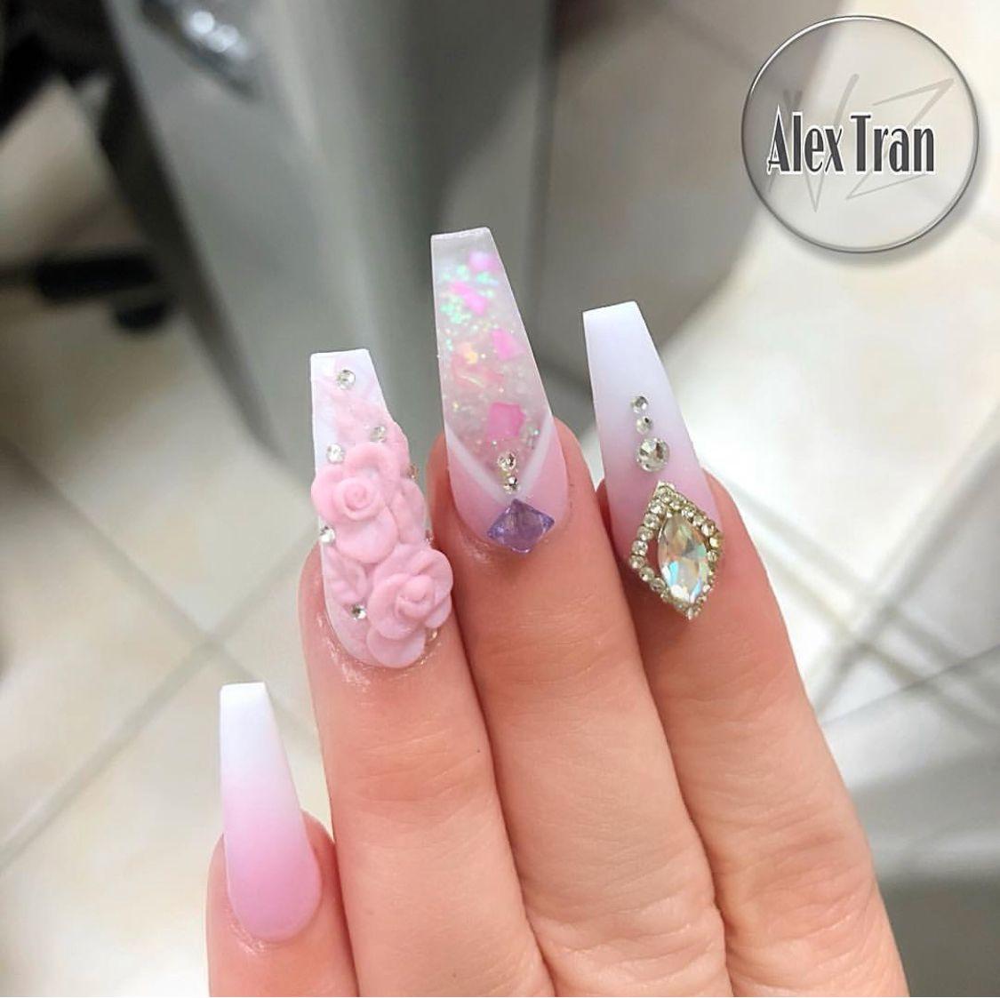 French Nail Art Acrylic Nails Acrylics Glam Hashtags Ideas