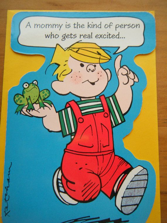 Vintage Birthday Card For Mom With Dennis The Menace Vtg 1980s