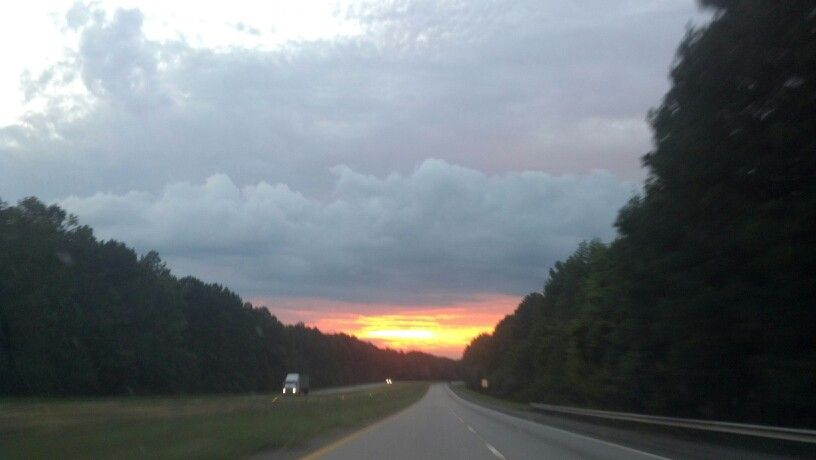 Coming home from Savannah after a storm!
