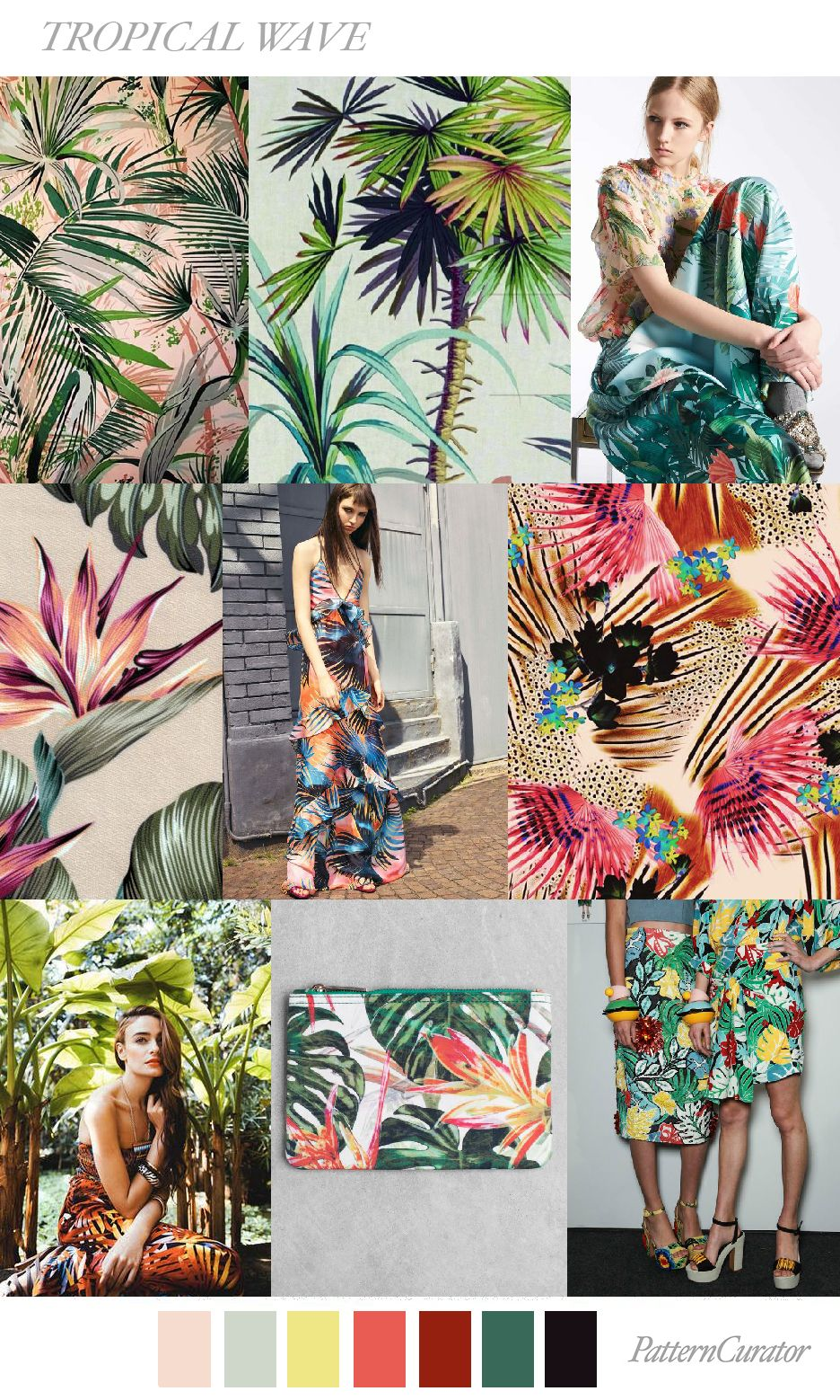 Tropical Wave By Patterncurator Tropical Fashion Fashion Trend Inspiration Tropical Trend
