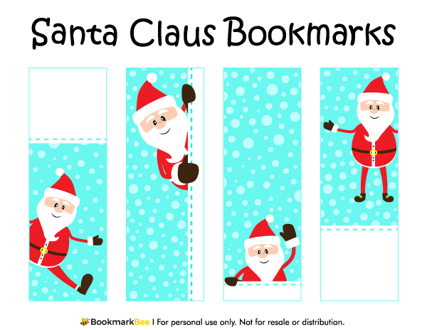 Free Printable Santa Claus Bookmarks For Christmas Download The
