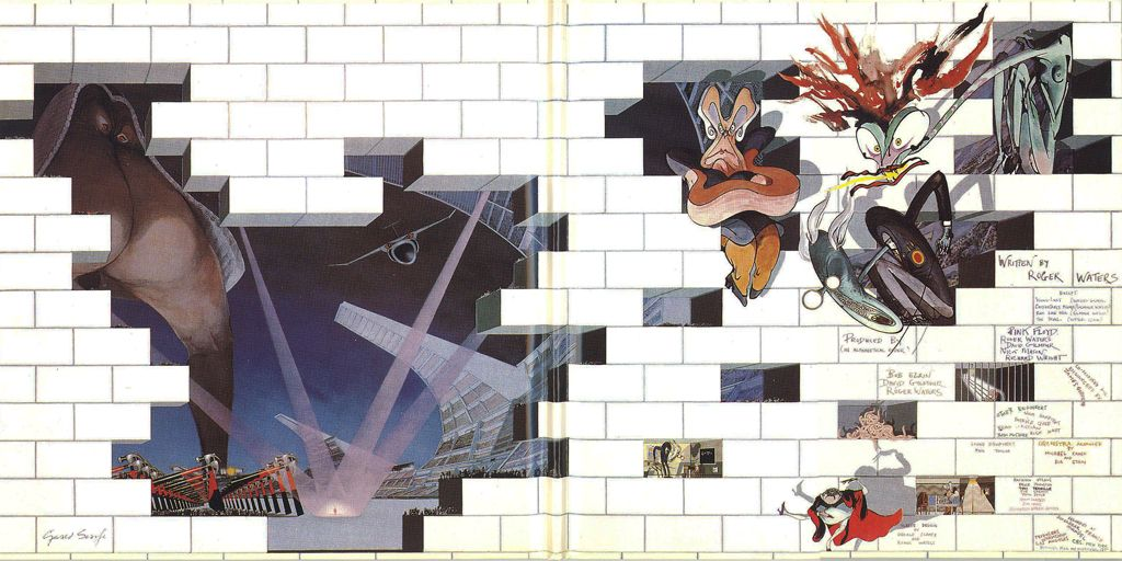 Pink Floyd: The Wall Inside cover   Album art   Pinterest   Pink Floyd