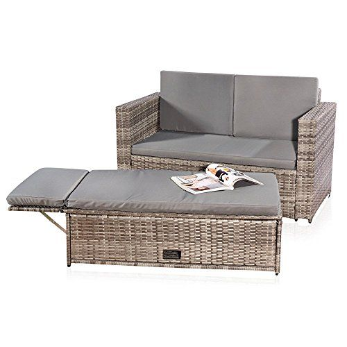 lounge gartenm bel sofa bank tisch klappbar rattan garten. Black Bedroom Furniture Sets. Home Design Ideas