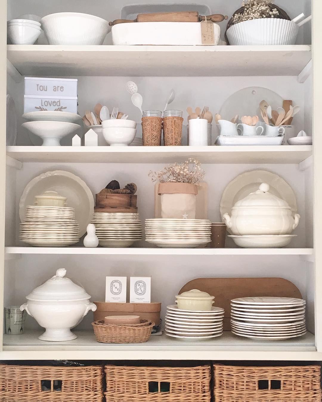 Le Vaisselier dedans grand ménage dans la cuisine! vider le vaisselier (dans l'espoir de