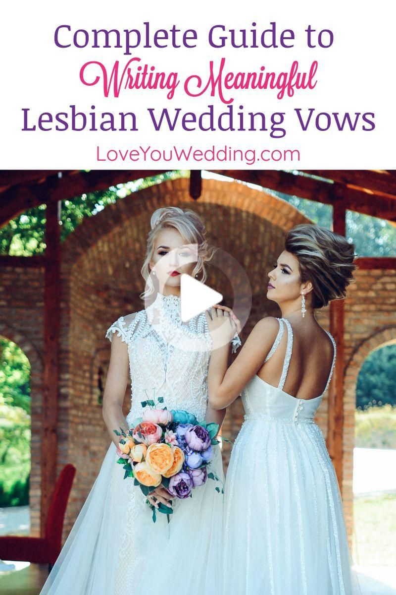 Guide to Writing the Best Lesbian Wedding Vows - Love You Wedding