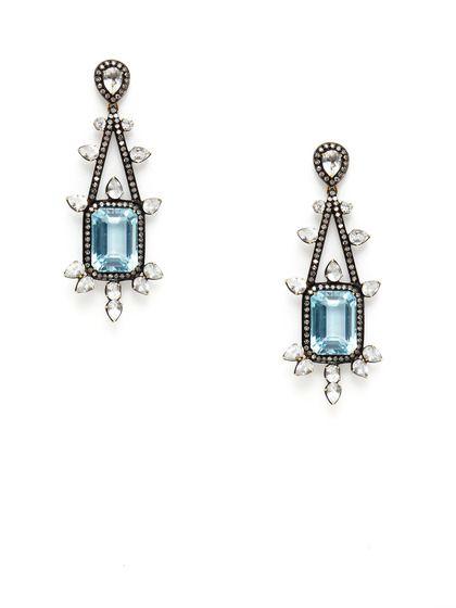 Diamond blue topaz chandelier earrings by jhadley on gilt diamond blue topaz chandelier earrings by jhadley on gilt mozeypictures Gallery