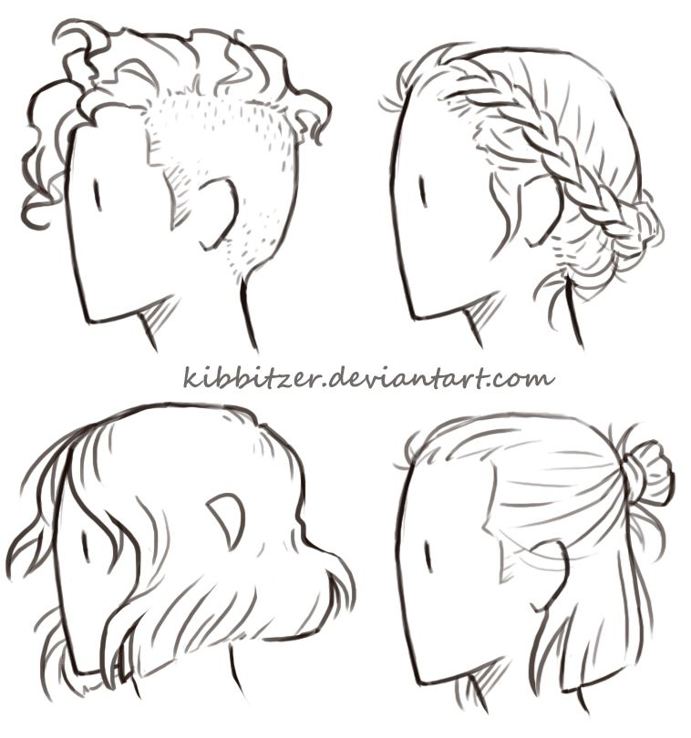 Short Hair Reference Sheet By Kibbitzer On Deviantart Art Reference Drawing Tips Drawings