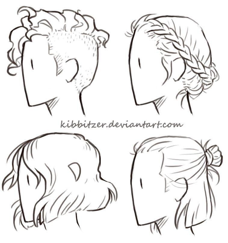 curto-hair folha de referncia