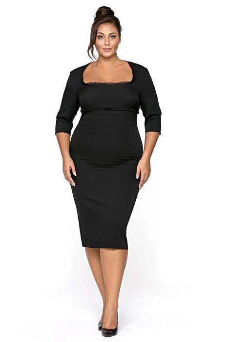 Černé šaty s rukávem Kartes Luciana  d8526d8672c