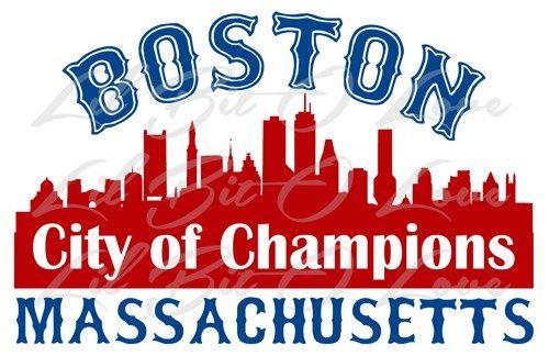 City Of Champions Vinyl Decal Sticker 3 Color Boston Mass Patriots Sox Vinyl Decal Stickers Vinyl Decals Custom Decals