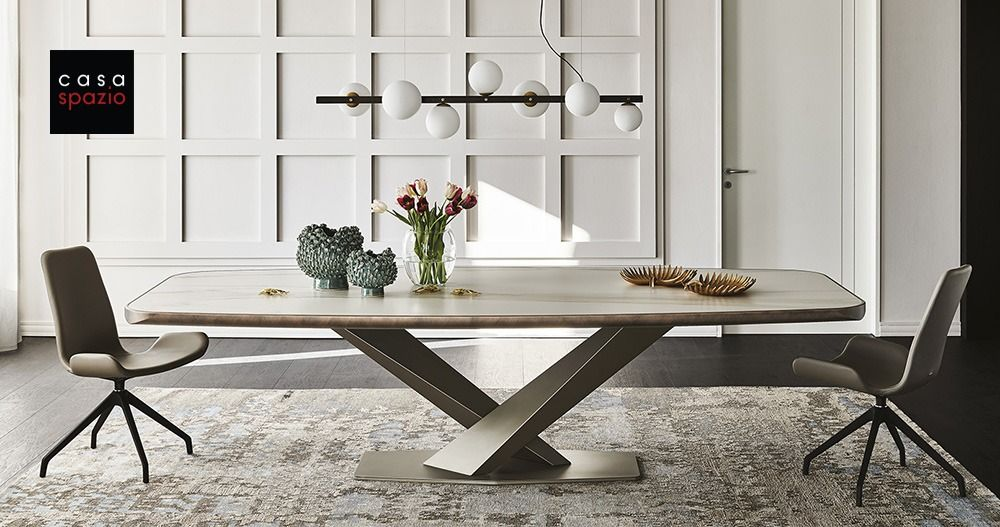 Cattelan Stratos Ceramic Dining Table Fixed Ceramic Dining Table