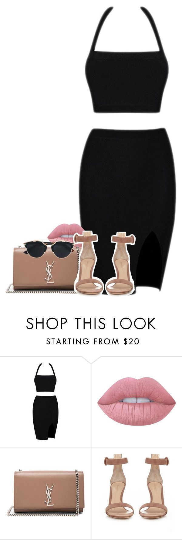 """""""yes?"""" by rebelde4life ❤ liked on Polyvore featuring Lime Crime, Yves Saint Laurent, Gianvito Rossi and Christian Dior"""