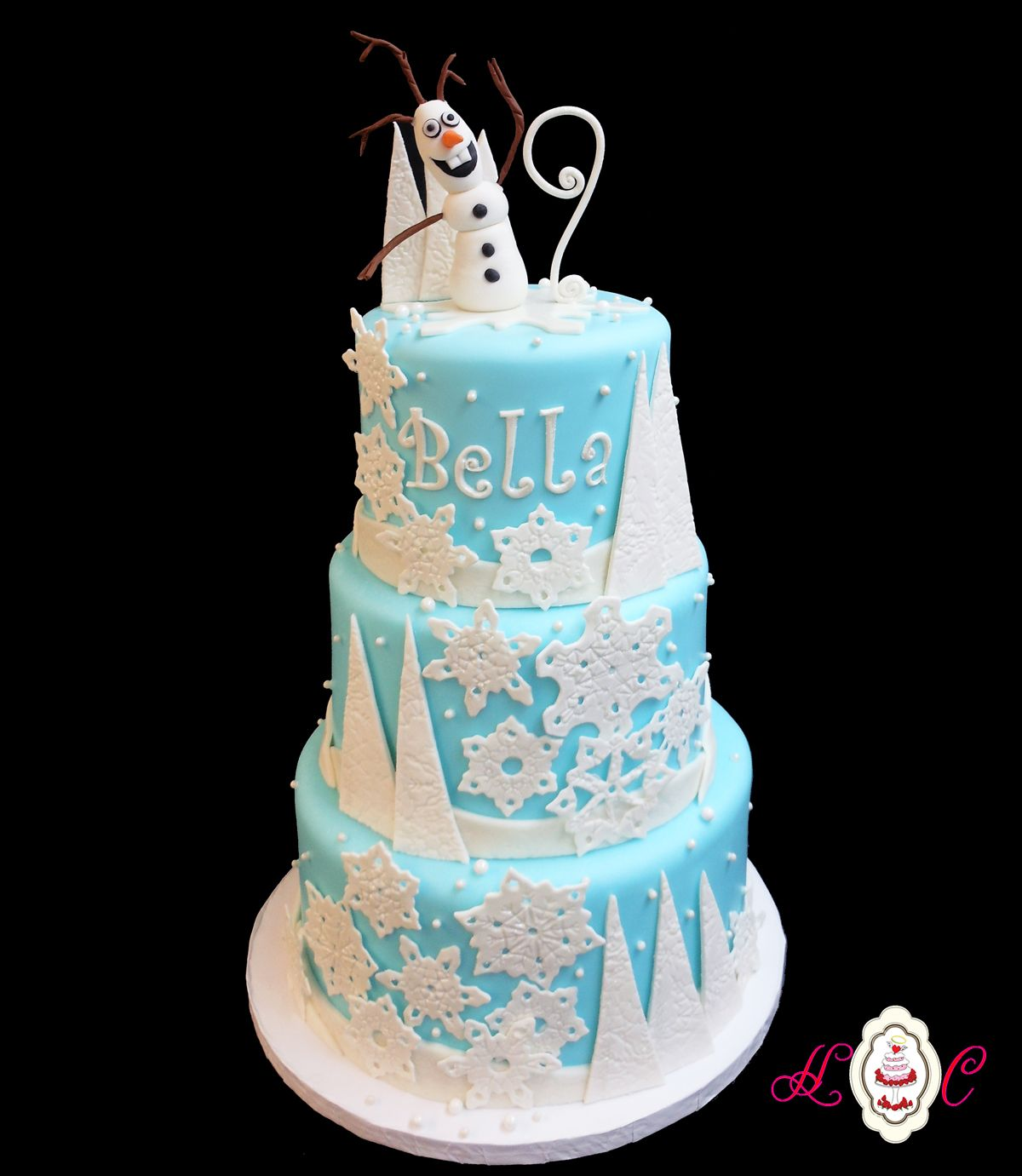 Terrific Olaf Birthday Cake Disneys Frozen Olaf Birthday 3 Tier Cake By Birthday Cards Printable Inklcafe Filternl