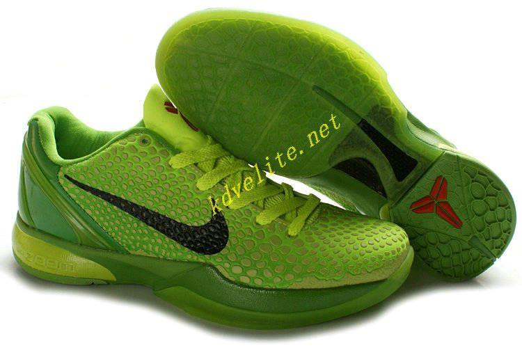 competitive price 245f4 28c7d Grinch Volt Nike Kobe 6 Black Green Apple Crimson 429659 701