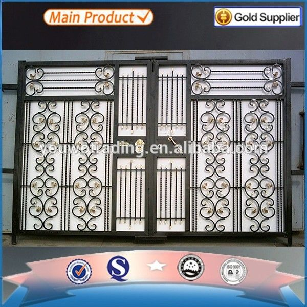 Source aluminum folding door glass door main gate design house gate ...