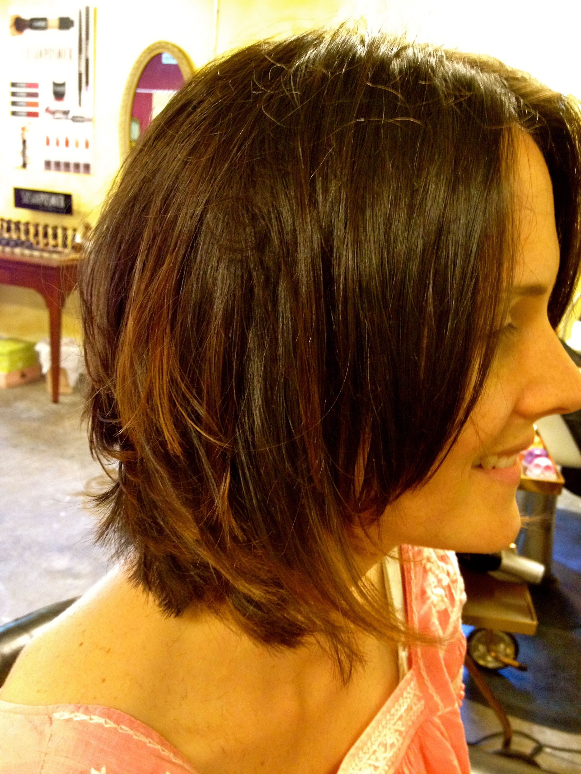Ombre color technique on a bob Hairstyles Pinterest
