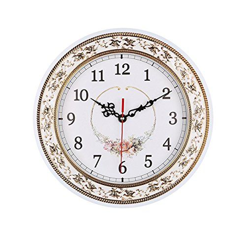 Foxtop Round Wall Clocks 11 Inches Living Room Decorati Https Www Amazon Com Dp B01fj8rok6 Ref Cm Sw R Pi Wall Clock Clock Wall Decor Floral Wall Clocks