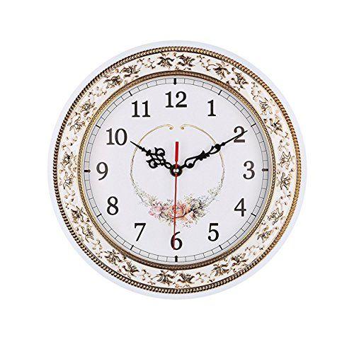 Foxtop Round Wall Clocks 11 Inches Living Room Decorati Https Www Amazon Com Dp B01fj8rok6 Ref Cm Sw R Pi Wall Clock Clock Wall Decor Floral Wall Clocks