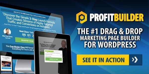 Profit Builder 2.0 The Premium Landing Page Creation Tools By Sean Donahoe Review – Easy-To-Use Drag & Drop Landing Page Builder That Enable You To Create Pages That Actually Convert, Make You Be A Marketing Master With Zero Coding Or Design Skills, Just Click & Go