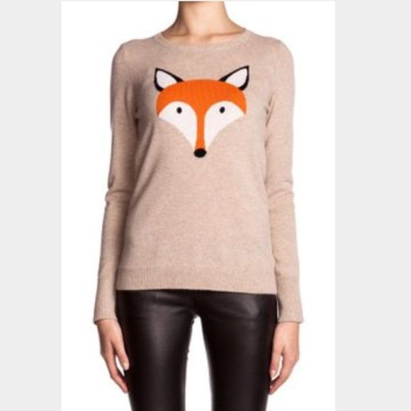 Christopher Fischer fox cashmere sweater 100% cashmere sweater. Excellent condition. Sold out fox design. Size small. Christopher Fischer Sweaters Crew & Scoop Necks