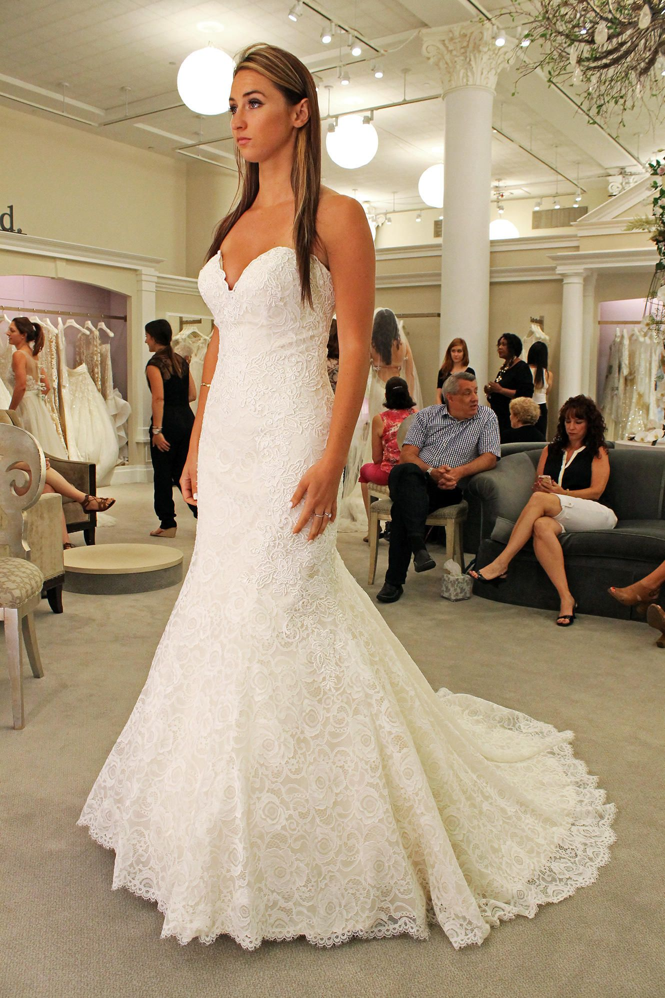 Tiered Lace Wedding Dress Say Yes To The Dress