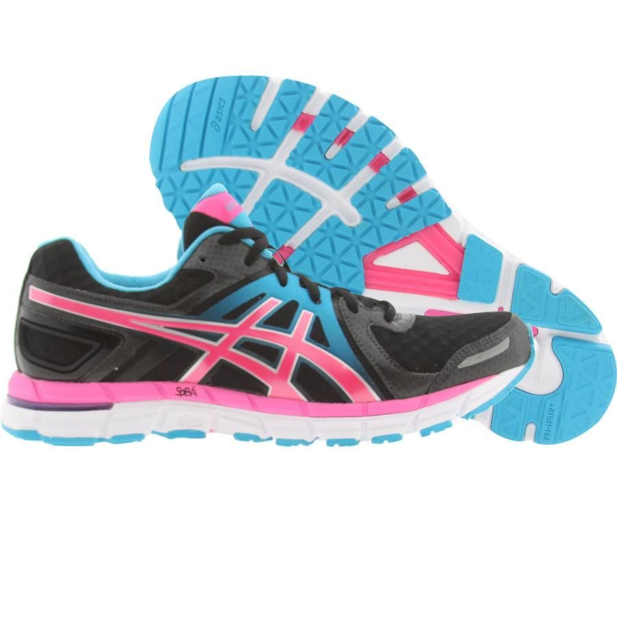 Asics Womens Gel-Excel 33 2 (black / electric pink / turquoise) T365N-9035 - $124.99