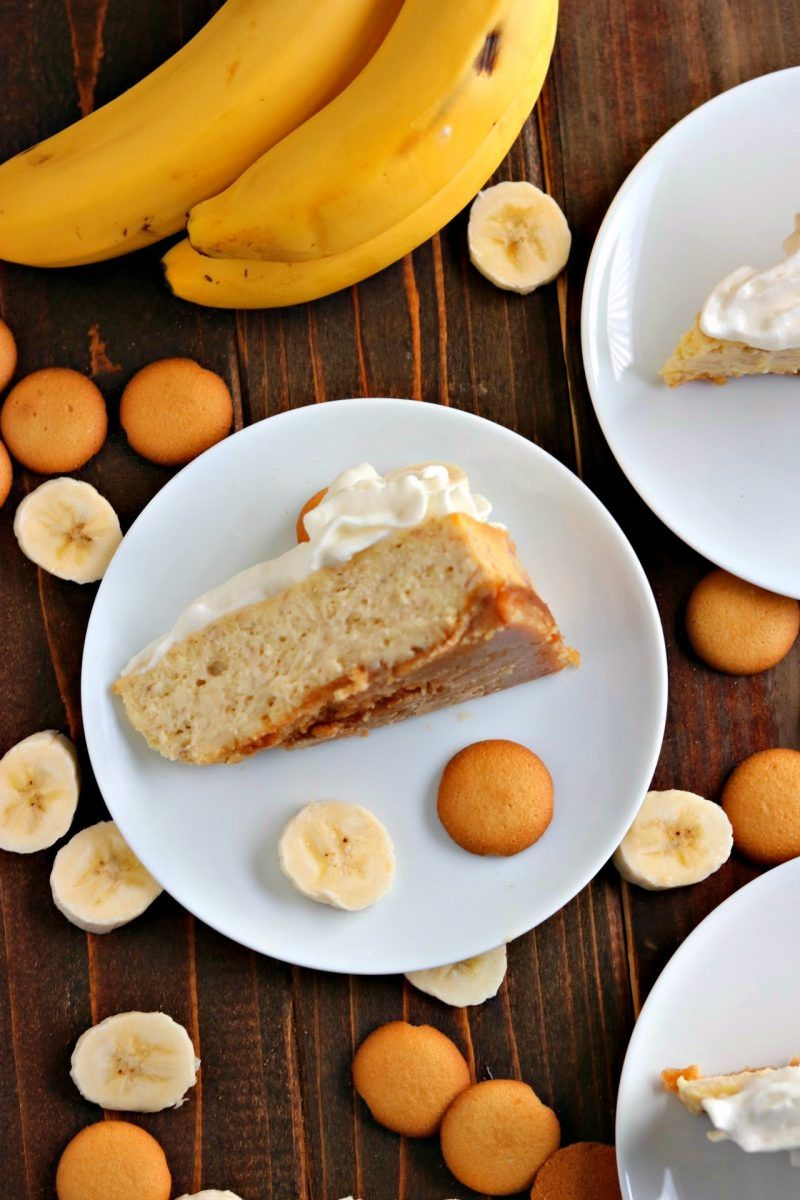 banana cream cheese cake recipe