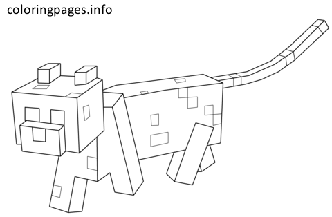 Minecraft Cat Coloring Pages Minecraft Coloring Pages Minecraft Cat Cat Coloring Page