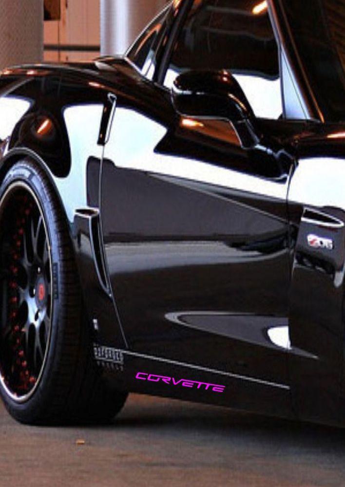 Chevrolet CORVETTE ZR1 Z06 C6 Grand Sport Racing Decal Sticker Emblem Logo  PINK