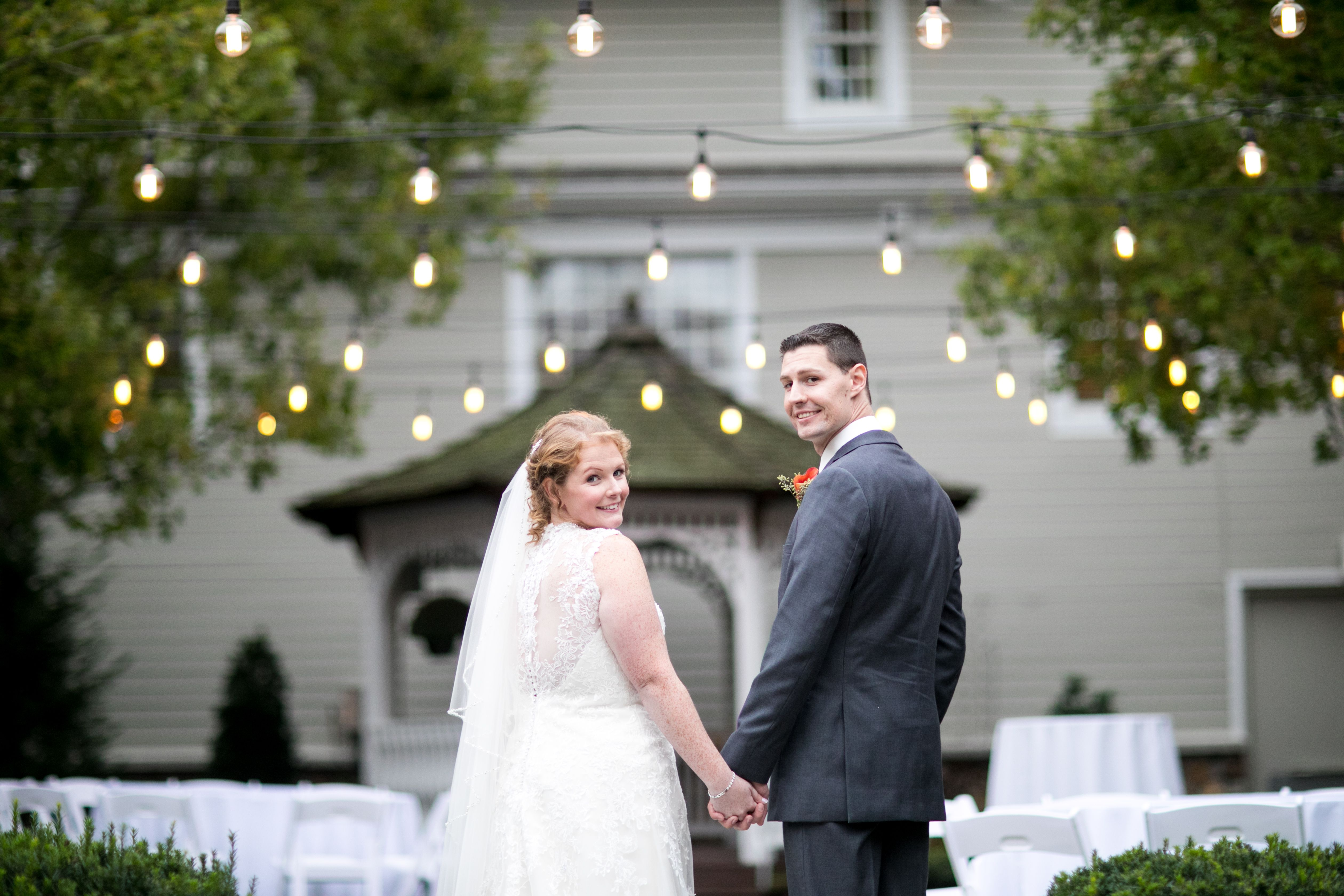 Shannon and Ryan used our Courtyard as the backdrop for their gorgeous wedding photos! (Gary Flom Photography) #Wedding #WeddingVenue #NJWeddings #Unique