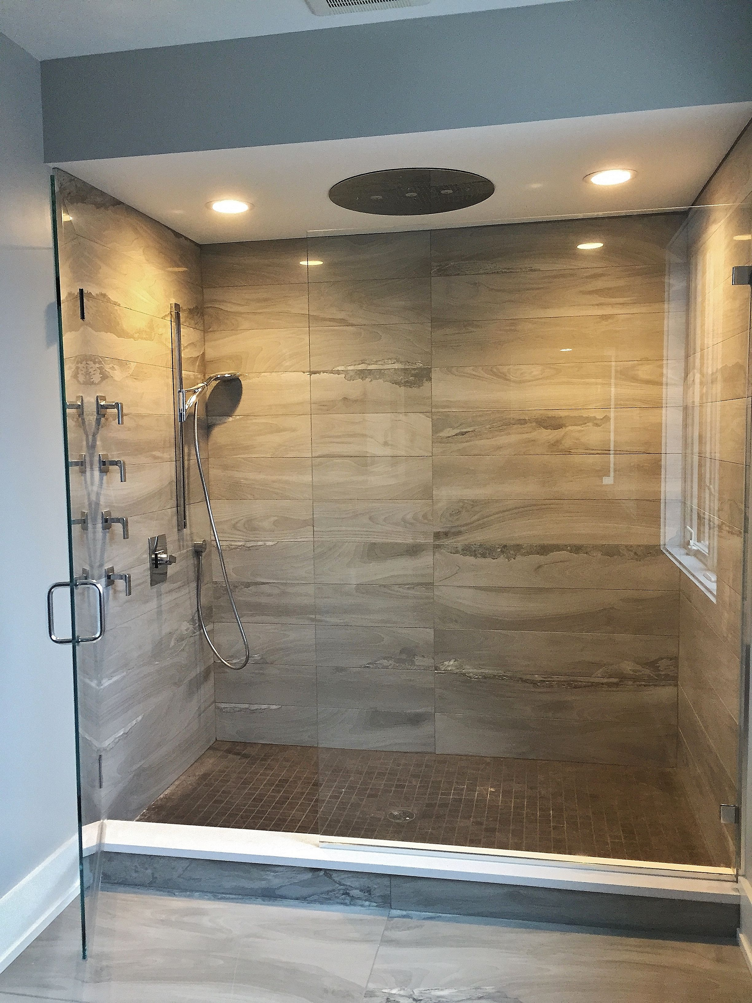 Frameless Shower Enclosure Door Panel With Clips Back To Back