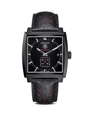 Tag Heuer Monaco Calibre 6 Black Titanium Carbide Coated Stainless Steel Watch