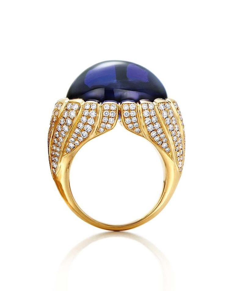 e445e190d3ef6 Tiffany ring set with a 23.03-carat tanzanite and diamonds in yellow gold