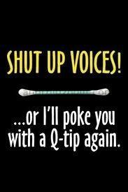 Shut up Voices!