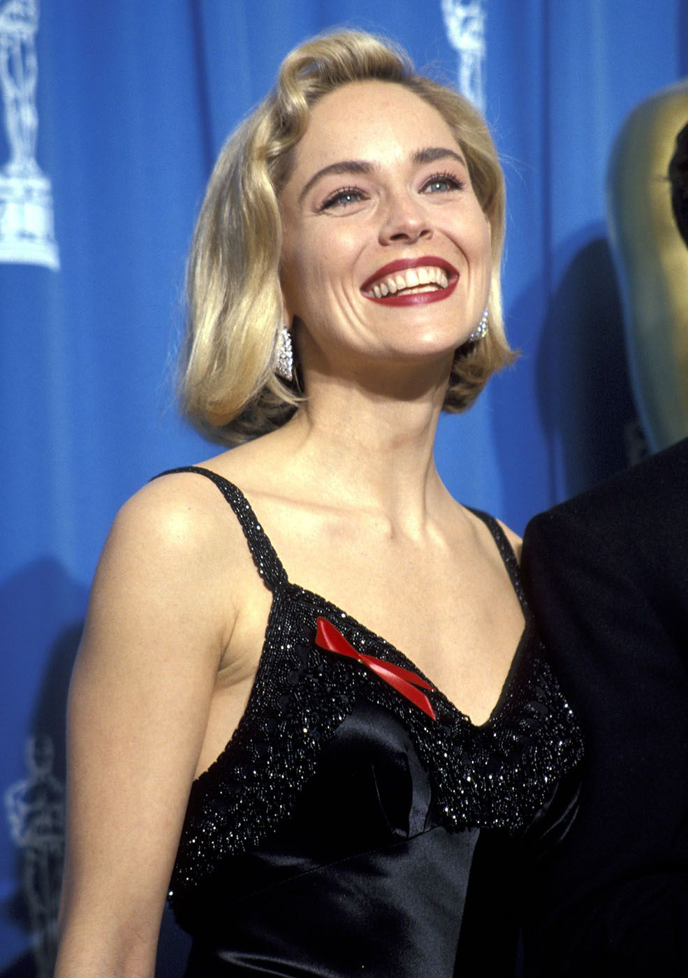 Sharon stone spiky short haircut for older women over 50 getty images - Sharon Stone Beautiful Bob
