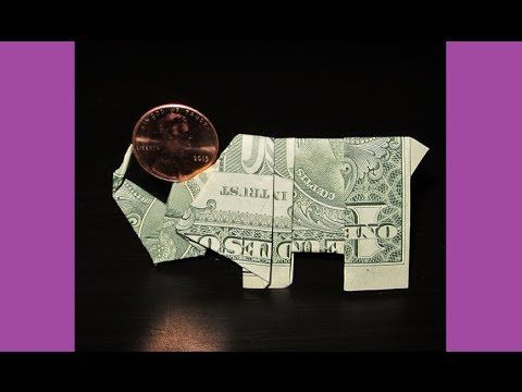Photo of DIY How to Fold Money Origami ELEPHANT Balancing a Penny – Dollar Origami