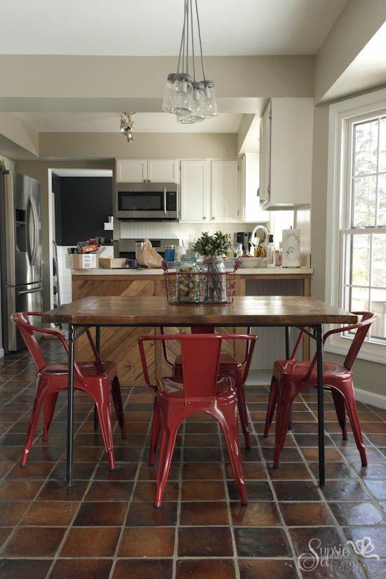 IKEA Industrial Meets Farmhouse Table Hack   Sypsie Designs