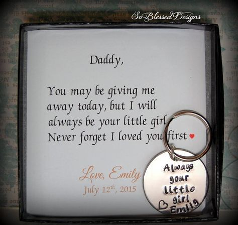 Father Of The Bride Gift From To Daddy By Soblesseddesigns