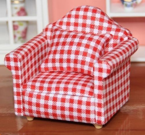 1:12 Dollhouse Miniature Furniture Living Room Furniture Armchair ...