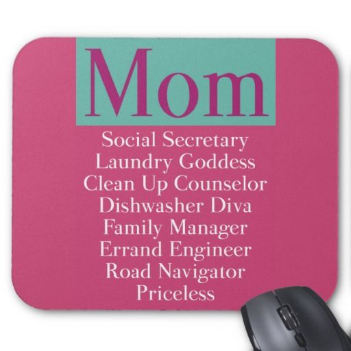 Mom  Job Description Mouse Pad  Great As A Birthday Or MotherS